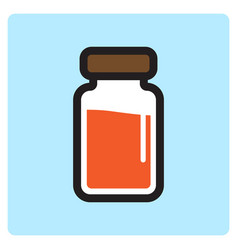 Flat color injecting fluid icon vector