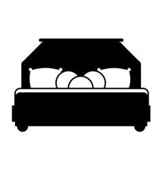 Bed room symbol vector