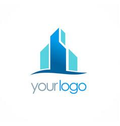 Business building logo vector