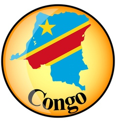 Button congo vector
