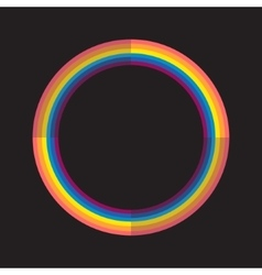 Abstract rainbow color circle with light and dark vector