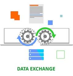 data exchange vector image