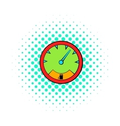 Speedometer icon in comics style vector