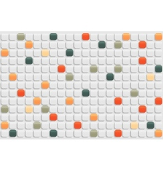 Abstract retro mosaic background vector