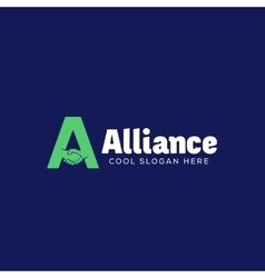 Alliance abstract logo template symbol or vector