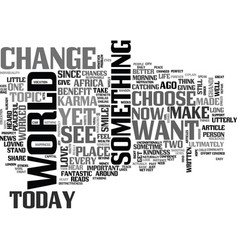 Be the change text word cloud concept vector
