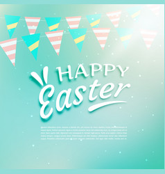 beautiful happy easter background with vector image