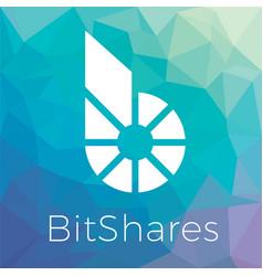 Bitshares bts blockchain criptocurrency logo vector