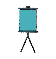Board for presentation blank office stand vector