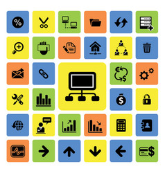 Business and web icons set vector