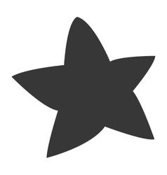 Cute chubby star icon vector