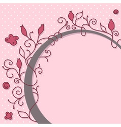 cute girly floral frame vector image vector image