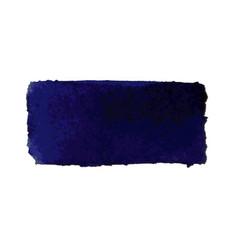 dark blue watercolor smear brush strokes vector image vector image