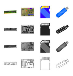Device components parts and other web icon in vector