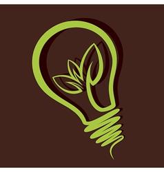 eco friendly bulb design vector image vector image