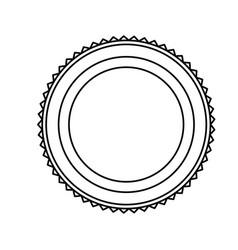 emblem stamp sticker blank line vector image