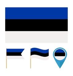Estonia country flag vector image vector image