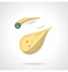 Flat color style comet icon vector image vector image