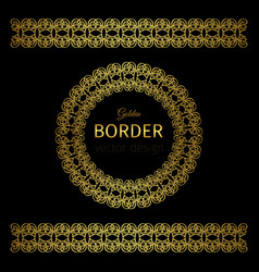 Golden border and rosette vector