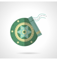 Green disc brakes flat icon vector