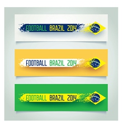 Grunge banner with brazilian flag vector