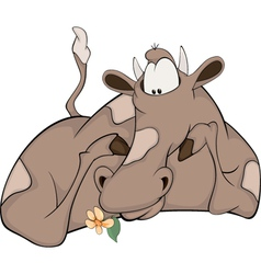 Lovely happy cow vector image vector image