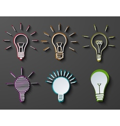modern idea icons set on dark background vector image vector image