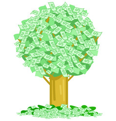 money notes tree vector image vector image
