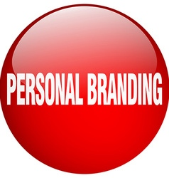 Personal branding red round gel isolated push vector