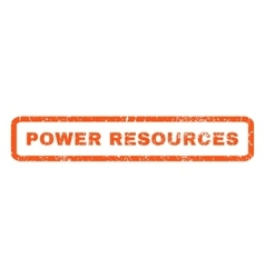 Power Resources Rubber Stamp vector image vector image