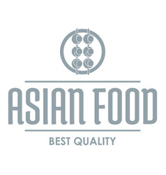quality asian food logo simple gray style vector image