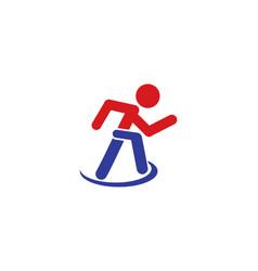 running logo vector image