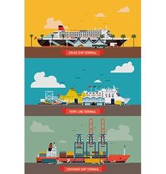 Seaway terminal set vector