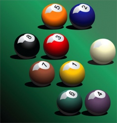 Snooker pool ball vector
