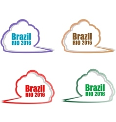 Stickers set Brazil Rio Summer Games 2016 vector image vector image