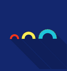 Tire on playgarden icon in flat style isolated on vector