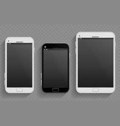 Touch screen mobile phones smartphones in vector