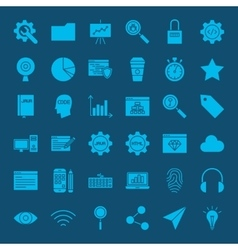 Website development glyphs icons vector