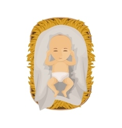 Jesus baby cartoon of holy night design vector