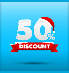027 merry christmas sale 50 percent web tag banner vector