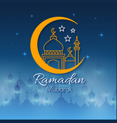 Ramadan greeting card for holy month vector
