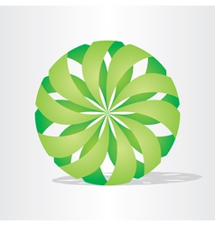 Green eco ball design vector