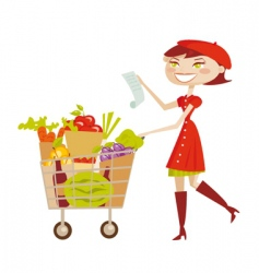shopping list vector image
