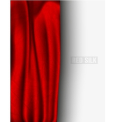 Red silk with a shadow vector