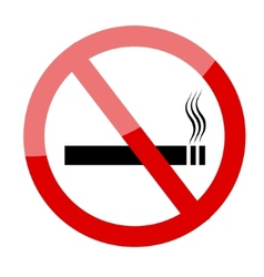No smoking sign smoking prohibited symbol vector