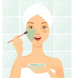 cosmetic mask facial vector image