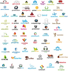 Pack of 69 logos vector