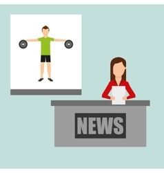 Sports news vector