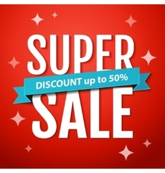 Super sale banner design template vector