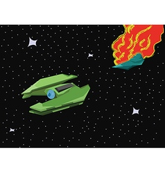 Spacecraft space blast vector